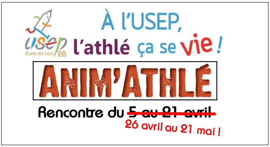 Nouvelles dates pour la rencontre Anim Athlé !